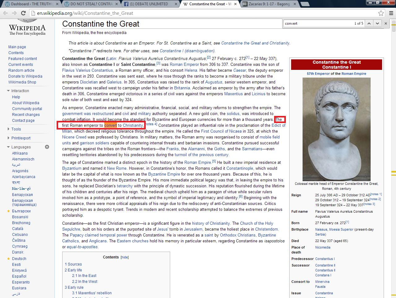 constantine the great and his influence