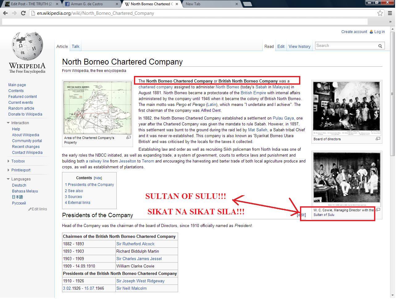 filipino people and north borneo company